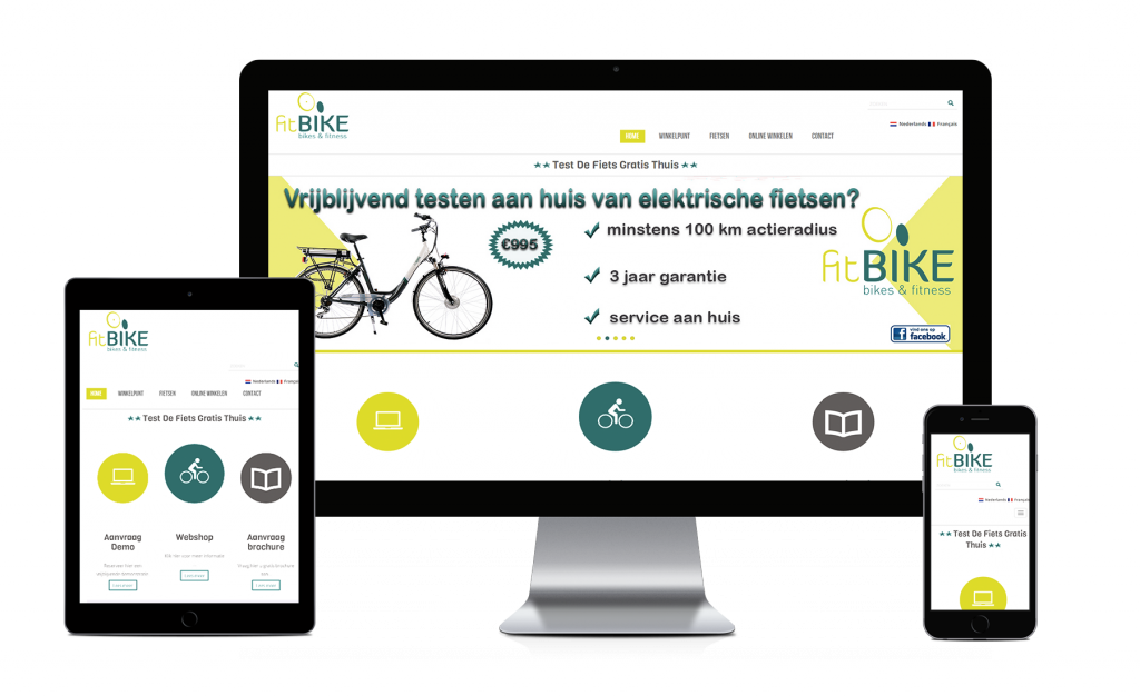 Fitbike website, created by webking .be