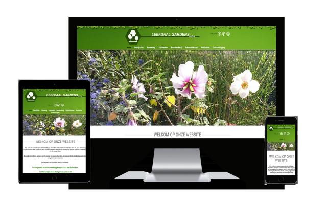 Webking portfolio Leefdaal Gardens