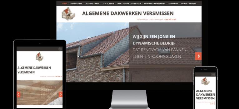 Webking portfolio Dakwerken Versmissen