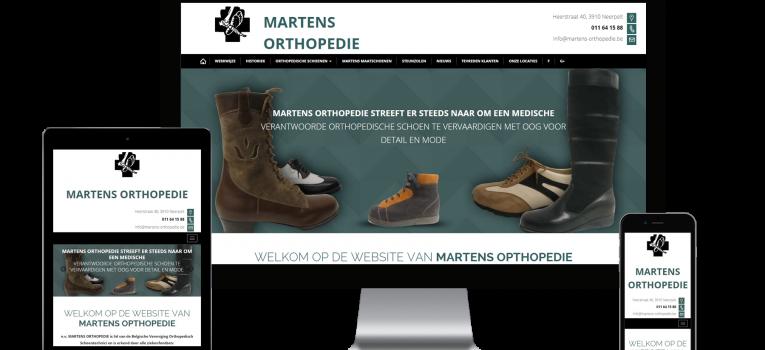 Webking portfolio Martens Orthopedie